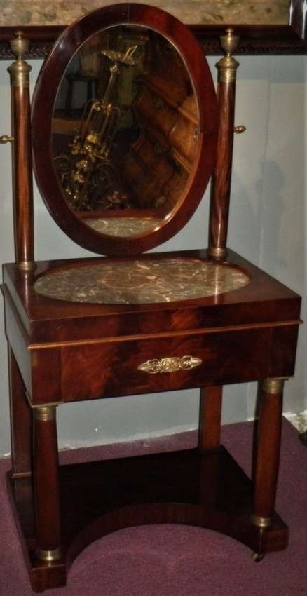 Antieke Toilettafel/commode Empire 1810,