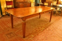 19 century refectory table in cherrywood