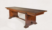 a fine Art déco dining table in Rosewood