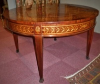 Empire tafel in marqueterie,