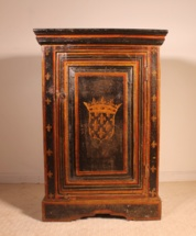 French polychrome Bedside table