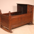 a fine 17 century English cradle in oak
