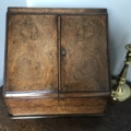 A -Victorian walnut travelling writing desk