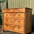 Empire kersen houten commode