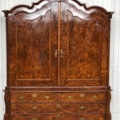 Antiek wortelnoten kabinet, Holland Ca. 1740, Hollands noten / wortelnoten kabinet.  kabi-1858